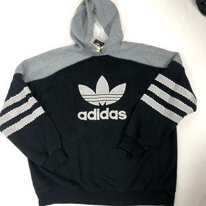 Vintage Adidas black Hoodie size XL